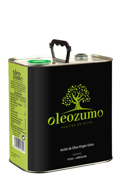 Aceite de Oliva Virgen Exta - Oleozumo -Orozumo - Lata 2.5L